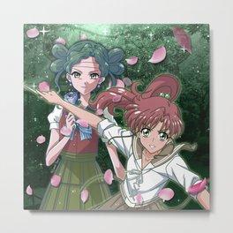 Makoto & Tellu Metal Print