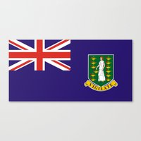 british flag Canvas Prints featuring British Virgin Islands flag by tony tudor