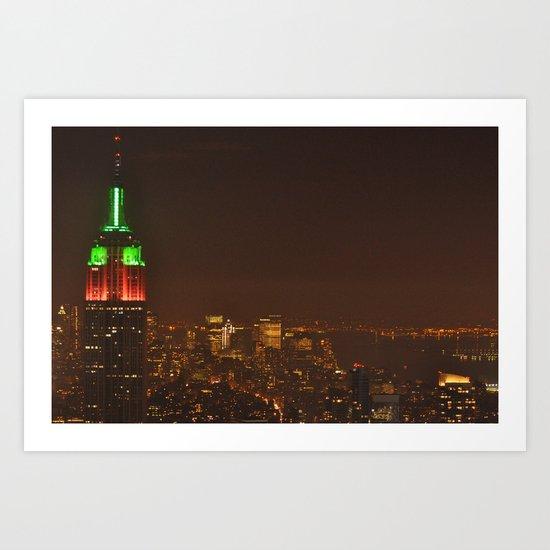 New York Skyline New Year's Eve 2010 Art Print