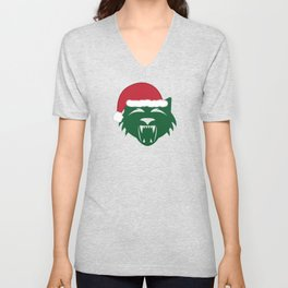 Christmas Wildcat Unisex V-Neck