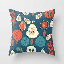Contemporary fruits Throw Pillow