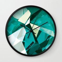 Turquoise Quartz Royal Stain Wall Clock