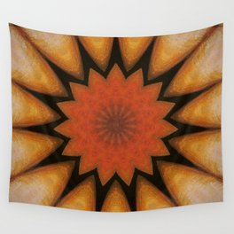 Solar // Sun Light Rays Visionary Art Vibrant Orange Golden Energy Plexus Bohemian Decor Wall Tapestry