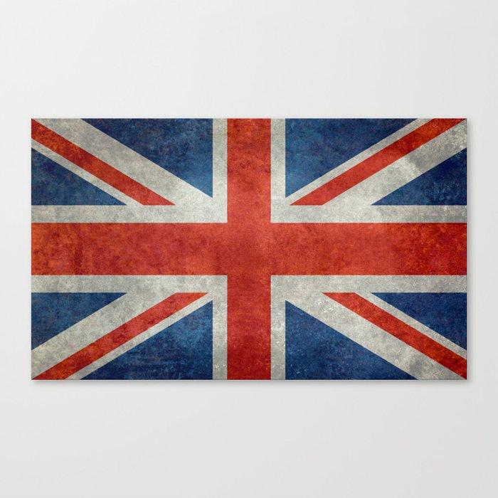 "UK British Union Jack flag ""Bright"" retro Canvas Print"
