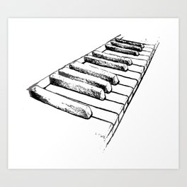 Sketching Pianos Doesn't Make You Better At Piano Art Print