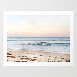 Palm Beach, Florida pastel sunset Art Print