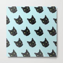 Black Cat Appreciation Day Metal Print