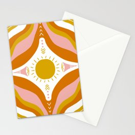sunshine mandala Stationery Cards