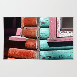 Turquoise and Red Rug