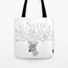 Doris Deer and Friends Tote Bag