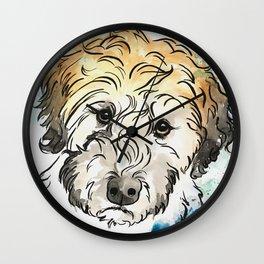 Sweet Eyes Doodle Art Wall Clock