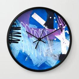 Leftovers - Indigo Wall Clock