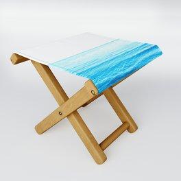 Blue Ocean Illustration Folding Stool