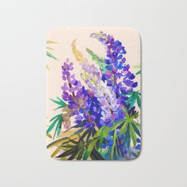 Lupine flowers Bath Mat