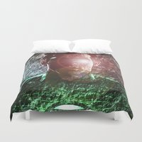 green lantern Duvet Covers featuring The Green Lantern  by André Joseph Martin