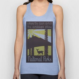 Vintage poster - National parks Unisex Tank Top