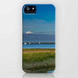 Kenai Dock/Boat Ramp with Mt._Redoubt - Alaska iPhone Case