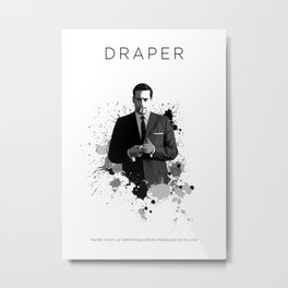 Certified Badass: Don Draper Metal Print