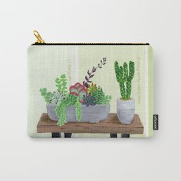 Cacti and Succulents on Greens Carry-All Pouch