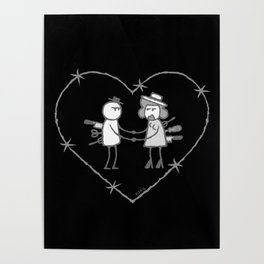 Crazy love - No text - Black background Poster