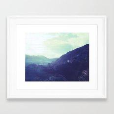 Kitekite Falls Polaroid Framed Art Print