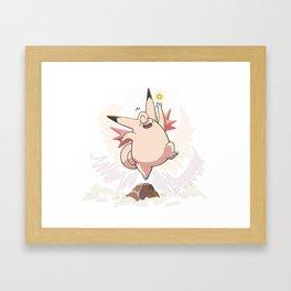 Clefable Framed Art Print