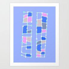 Indoor Constellation (Purple) Art Print