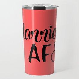 Married AF - Coral Travel Mug