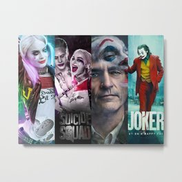Joker and HarleyQuinn Poster Print Metal Print