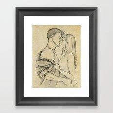 valentine kiss #10 Framed Art Print