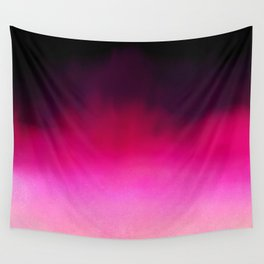 Purple and Black Abstract Wall Tapestry