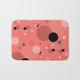 Coral Dots Bath Mat