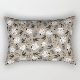 Vintage Beetle Floral Pattern Rectangular Pillow