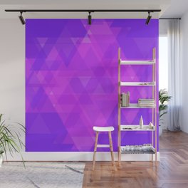 Bright purple and pink triangles in the intersection and overlay. Wall Mural