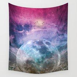 MOON under MAGIC SKY I Wall Tapestry