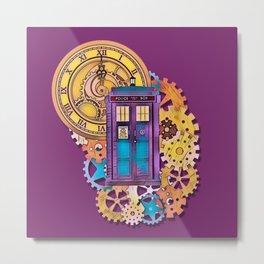 Colorful TARDIS Art Metal Print