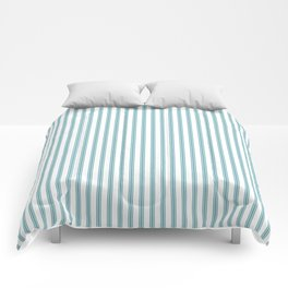 Ticking in Marine Blue Comforters