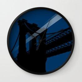 A UFO flies in Brooklyn Wall Clock