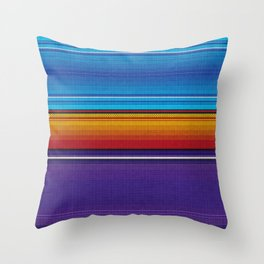 Mexican serape #4 Throw Pillow