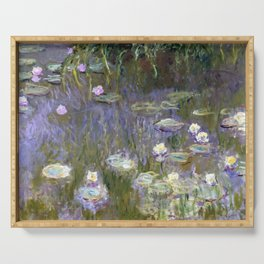"""Claude Monet """"Water lilies""""(2) Serving Tray"""
