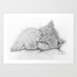 Relaxing Cat Art Print
