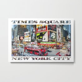 Times Square NYC (poster edition) Metal Print