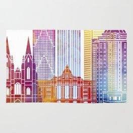Houston landmarks watercolor poster Rug