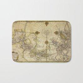 Map Of North Pole 1800 Bath Mat