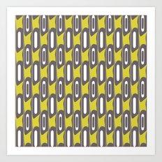 Mod White Stripes Art Print