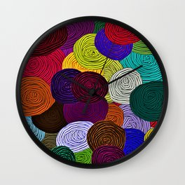 Colorful Circle Art Wall Clock