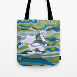 Somewhere in Green Water Tote Bag