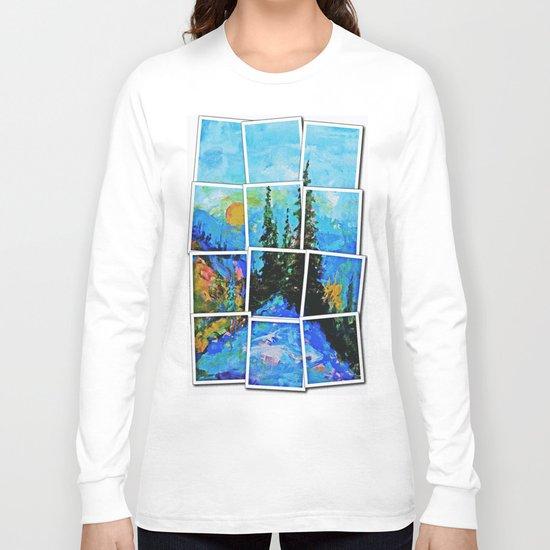 Mountain Blues Painting Long Sleeve T-shirt
