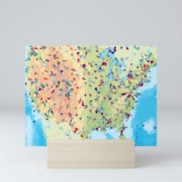 USA America Geometric Abstract Mini Art Print