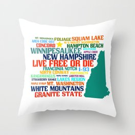 New Hampshire Native Throw Pillow